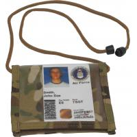 Neck ID w/back zippered pocket, Multicam