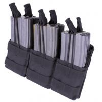 Triple stacker M4 Mag pouch, Open top, Black