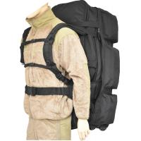 Expandable Wheeled Deployment Bag Black