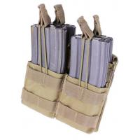 Double stacker M4 Mag pouch, Open top, Coyote