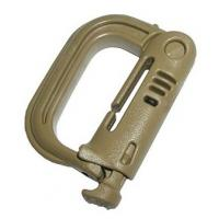 Grimloc Locking D-Ring, USA, Coyote 4 per package
