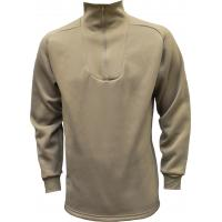 Zippered Turtle Neck Top, Heavy Weight, Tan499