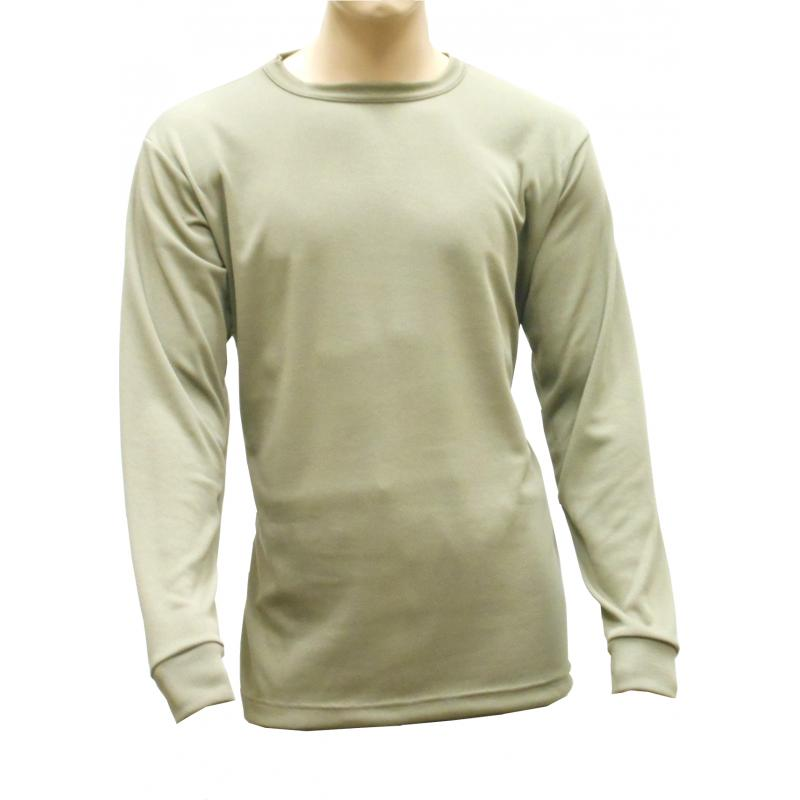 Thermal Crew Neck Top, Mid-Weight, Coyote / Tan499 - Click Image to Close
