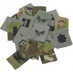 Rank for Multicam/OCP Wet Weather or APECS Parka, 25/pkg