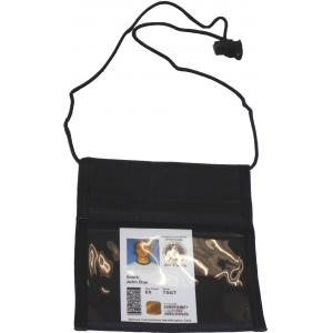 Vertical Neck Military ID Holder, Black