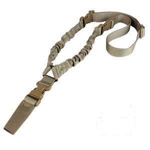 Rifle Sling, 1 point Bungee, Coyote